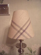 Handmade Candle Clip Lampshade - Laura Ashley Corby Check fabric all colours