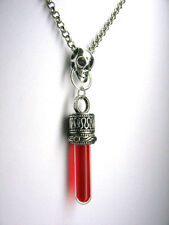 Zombie Vampire Blood liquid vial Necklace Evil Virus true Resident Supernatural