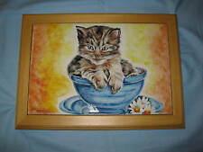 mattonella.con cornice con gattino .