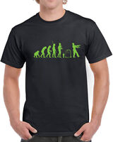 180 Zombie Evolution mens T-shirt hunter dawn dead scary apocalypse cool creeper