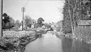 B/W Negative Cheriton Hampshire Village Village Scene 1949 +Copyright W58