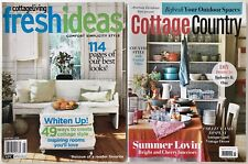 COTTAGE COUNTRY LIVING - VINTAGE COTTAGE FARMHOUSE DECORATING MAGAZINE LOT OF 2