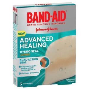 Band-Aid Advanced Healing Hydro Seal Jumbo 3 Hydrocolloid Gel Plaster