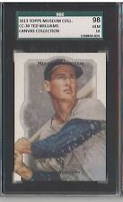 2013 Topps Museum Collection Canvas #CC-30 - TED WILLIAMS SGC 10 (98) Gem Mint
