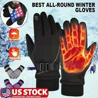Men Winter Thermal Warm Waterproof Touch Screen Driving Work Gloves Mitten US