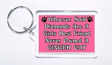 Whoever Said Diamonds Girls Best Friend Never Owned a Ginger Cat Keyring, Gift