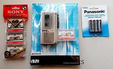 Sony M-570 Handheld Micro-Cassette Voice Recorder w/Tapes,Batteries. Value Pack!