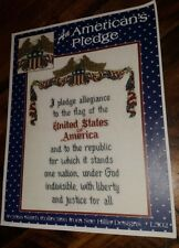 New Sue Hillis American Pledge Cross Stitch Pattern