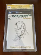 Justice League 16 - Cyborg Sketch - Signed & Sketched by Billy Tan - CGC 9.8