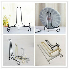 """4""""-12"""" Iron Easel Classic Display Stand Bowl Plate Art Photo Picture Frame Books"""