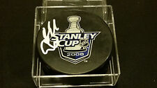 Niklas Kronwall signed Official Red Wings 2008 Stanely Cup Puck COA!