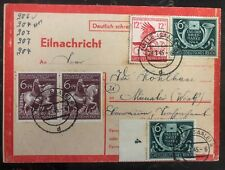 1945 Halle Germany urgent message Postcard Cover To Munster