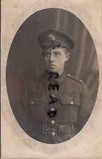 WW1 soldier 7th Battalion ?? Berkshire Regiment Russian postcard reverse