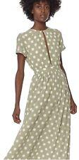 Mara Hoffman Green Polka Dot Size Small Maxi Dress
