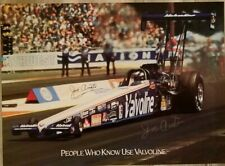 Signed Joe Amato Poster NHRA Top Fuel Dragster 19 X 26 Valvoline