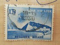 N°320 Timbre oblitéré trace charnière BE Belgique - 1939 Liège exposition