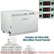 3 Temperature Digital Hot Towel Warmer Cabinet UV Sterilizer Spa Salon Equipment