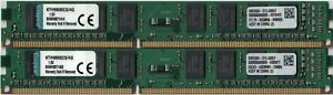 Kingston 8Go DDR3-1600MHz = lot 2x4Go | 9905584-015.A00LF | 1Rx8 DIMM PC3-12800