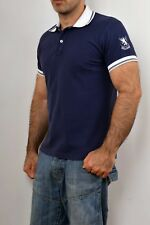 Williams WILSON MADE IN ITALY Polo Navy Blu Bianco Stretch M COOL NICE Fit