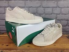 PUMA LADIES UK 5 OFF WHITE CREAM SUEDE BASKET JEWELS TRAINERS **RARE**