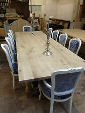 Reclaimed & solid oak Large Rustic 12 seater, Tudor Style Dining Table, Chunky