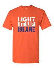 Light It Up Blue Shirt Autism Awareness T-Shirt Autism Dad Tee Fathers Day