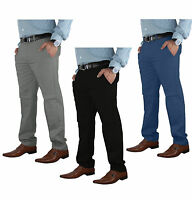 Mens Chino Trousers Stretch Slim Fit Jeans Cotton Pants Skinny Bottom