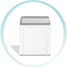 50  5 x 5 Inch White CARDBOARD CD/DVD Mailers with Flap & Seal