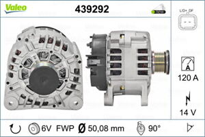 Valeo Alternator 439292 fits Renault Master 2.5 dCi 120 (84kw)