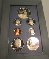 1986 Prestige Proof Set U.S. Mint COA Box 7 coin Liberty Silver Dollar