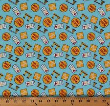 Baumwolle Baby Construction Zone Zeichen Zahlen NAP Stoff Drucken von der Werft d478.09