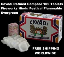 Cavadi Refined Camphor 105 Tablets Fireworks Hindu Festival Flammable Evergreen