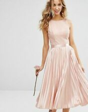 CHI CHI LONDON PLEATED LACE MIDI DRESS WEDDING PARTY COCKTAIL UK 10 16