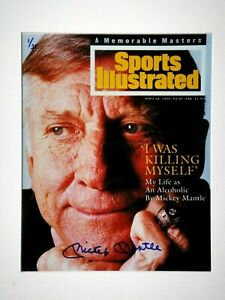 MICKEY MANTLE JSA SIGNED 1994 SPORTS ILLUSTRATED SI COVER RARE #1/21 AUTOGRAPHED