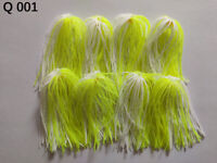 8 Bundles 50 Strands Silicone Skirts Fishing Buzzbait SpinnerBait Jig Bass Q 001