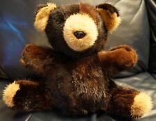 "ANTHON'S FURS MINK TEDDY BEAR 10"" STUFFED BROWN AND TAN PRECIOUS PLUSH GIFT!"