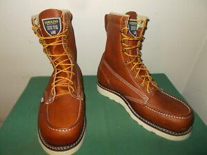 Mens 9.5 EE Carolina 8 Inch Moc Steel Toe Wedge Work Boot USA Made CA7502 NEW