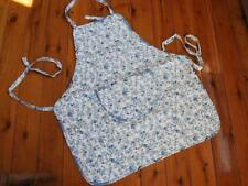 Blue N White Country Flowers Quilted Cotton Apron