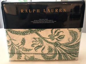 Ralph Lauren Charleston Preslie KING DUVET Cover Botanical Green MSRP $430 NEW