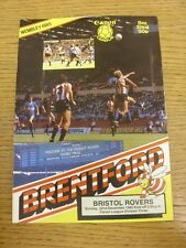 22/12/1985 Brentford v Bristol Rovers  . Thanks for viewing this item, buy in co