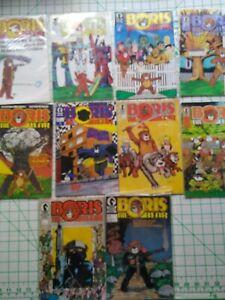 DARK HORSE COMICS-1986- BORIS THE BEAR No.1 THRU 10 -SUPER HERO PARODY-FREE SHIP