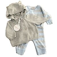 Fox & Finch Baby BNWT Cardigan and One Piece Romper Size 000-3Months