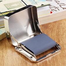 Metal Automatic Cigarette Tobacco Roller Roll Rolling Machine Box Case Tin FE
