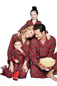 Family Matching Christmas Pajamas Set Baby Kids Sleepwear- Red Brinkley Plaid