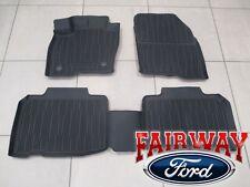 16 thru 18 Edge OEM Genuine Ford Tray Style Molded Black Floor Mat Set 4-pc NEW