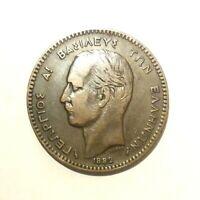 Greece Coin - 1882 - 10 Lepta - Georgios A! King of Greece