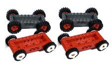 LEGO vehicle bases x4 for car truck wheels base brick 4x10 city *