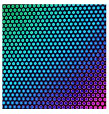 Dichroïque en verre 90 Coe DOT 3 sur Mince Noir CBS 5x10 cm