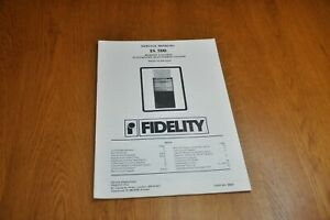 Fidelity IS 500 Stereo Music System Part no 44822 Genuine Service Manual