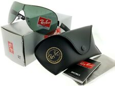 Ray-Ban RB2140F-115440 Wayfarer Blue Frame Green Lens Genuine Sunglasses NIB